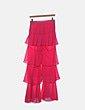 Pantalón de volantes rosa BLISS Couture