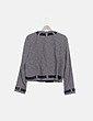 Blazer tricot combinada lazo satinado Ferrache