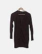 Cardigan tricot negro con botones Zara