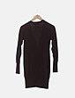 Cardigan tricot largo marrón Zara