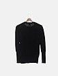 Suéter tricot negro strass calavera E.VIL
