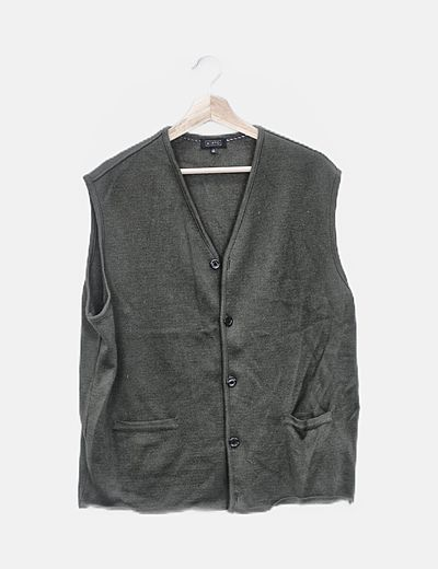 Chaleco tricot verde