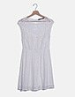 Vestido encaje crudo con transparencias Zara