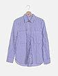 Camisa de rayas azul y blanca Lefties