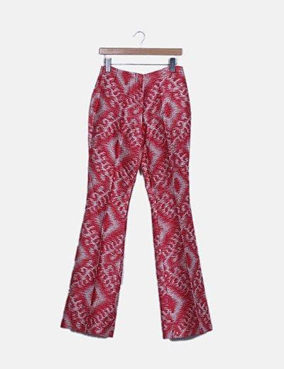 Pantalón rojo jaspeado