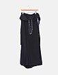 Maxi vestido negro cuello halter de pedrería  Easy Wear