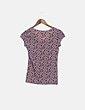 Camiseta manga corta rosa print estrellas Zara