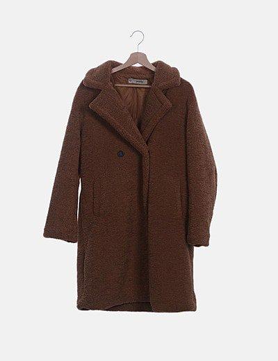 Abrigo peluche marrón