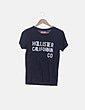 Camiseta azul mensaje Hollister