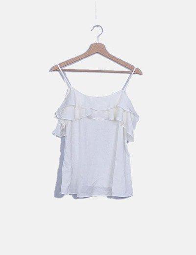 Blusa blanca cut out