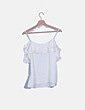 Blusa blanca cut out Promod