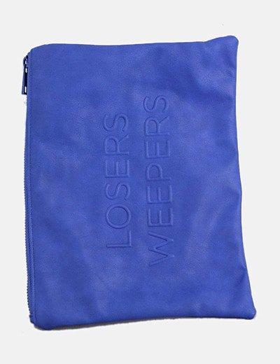 Bolso de mano azul klein