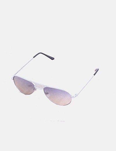 Gafas aviador gris