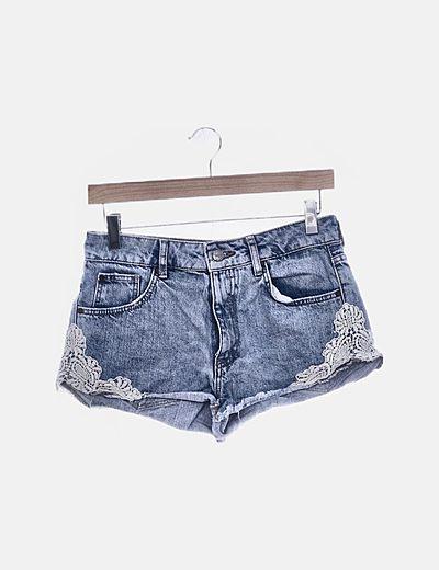 Jeans denim crochet
