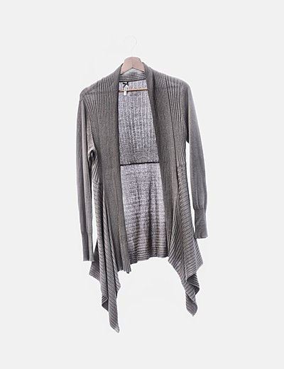 Cardigan tricot canale verde