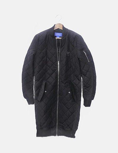 Abrigo plumífero negro