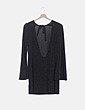 Vestido negro glitter espalda abierta Subdued