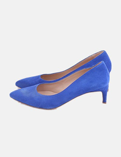 Zapatos heels azul klein
