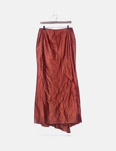 Maxi falda roja irisada