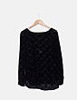 Camiseta transparente negra terciopelo European Culture