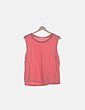 Camiseta rosa sin mangas Zara