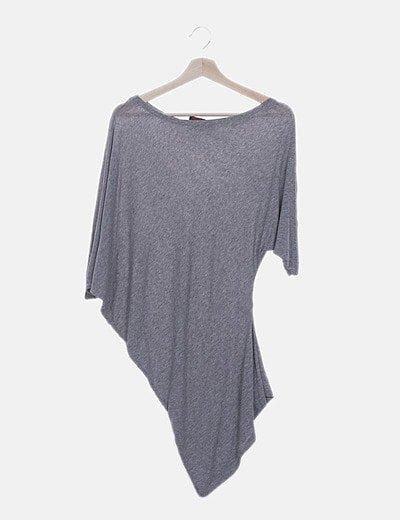 Camiseta asimétrica gris