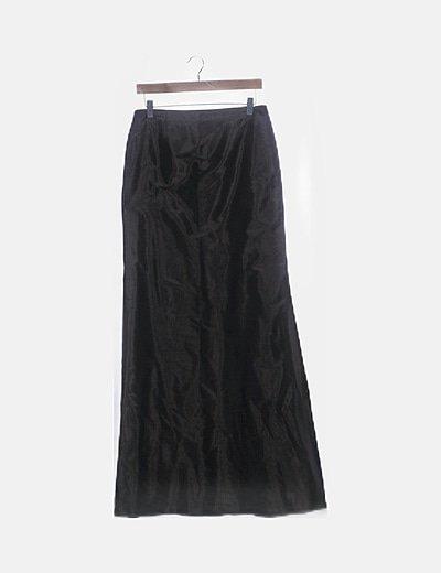 Maxi falda marrón irisada