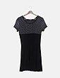 Vestido gasa negra detalle bordado Elisa Rivero