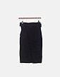 Falda midi negra con cinturón Rinascimento