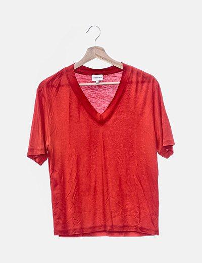 Camiseta roja fluida