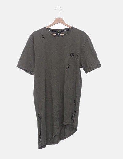 Camiseta verde ripped