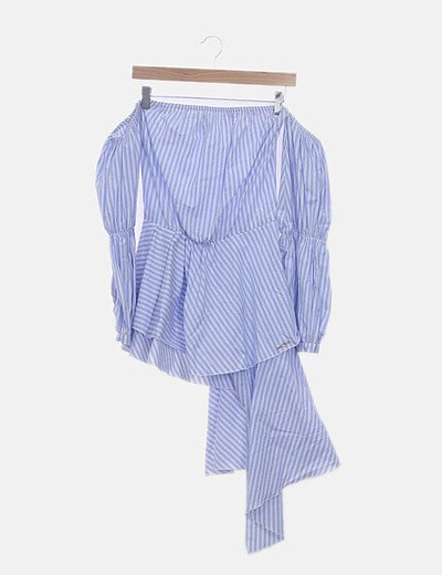 Blusa de rayas asimétrica