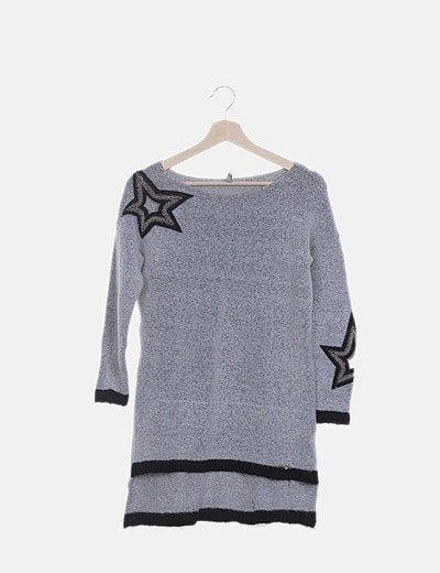 Jersey gris detalle estrellas