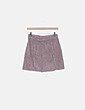 Falda de pana rosa palo con botones Pull&Bear
