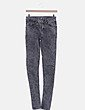 Pantalón denim pitillo gris Primark