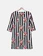 Vestido de rayas print floral NoName