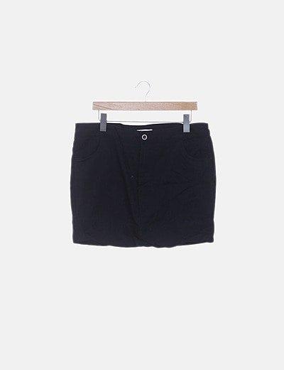 Falda mini denim azul marino