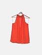 Blusa naranja detalle metalico Zara