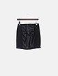 Falda mini negra combinado con polipiel H&M