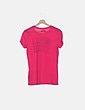 Camiseta rosa print Hollister
