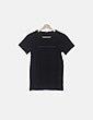 Camiseta negra print Benetton