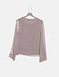 Blusa beige de gasa combinada Zara