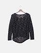 Jersey tricot negro jaspeado Inside