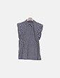 Blusa cuadro vichy negro Zara