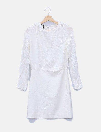 Vestido blanca manga larga