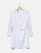 Vestido blanca manga larga Mango