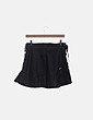 Falda negra polipiel lace up Zara