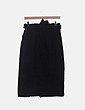 Falda negra abotonada Mulaya