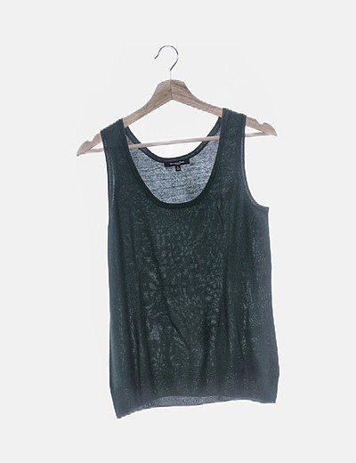 Chaleco verde tricot