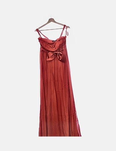 Vestido de fiesta gasa rojo